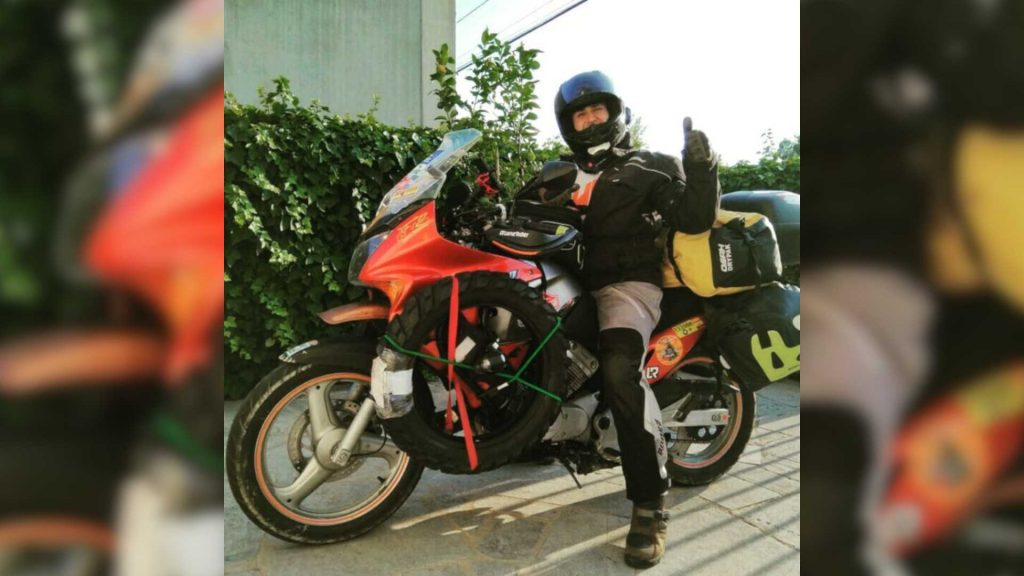 125cc motosiklet üzerinde 15.000 km